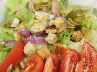 Green salad close up