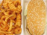 Grilled chicken burger and twister fries