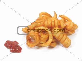 Twister fries with ketchup