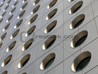 Circular windows of an office building