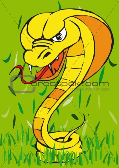 Toonimal Snake-Vector