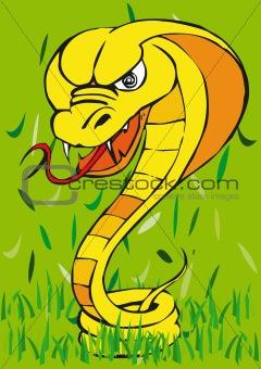 Toonimal Snake-Vector