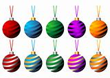 Striped Christmas balls