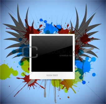 empty photo on abstract background. Vector illustration