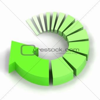 Green Process Arrow