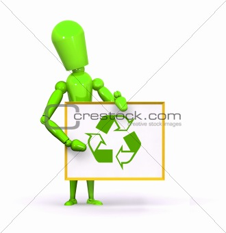 Green Recycle Man