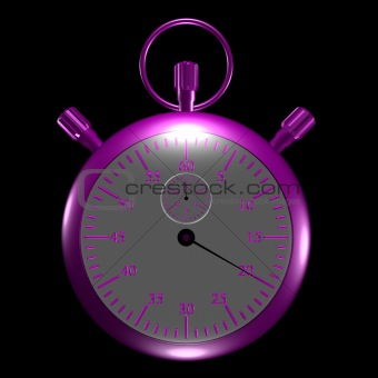 Metallic pink stopwatch.