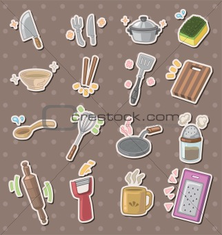 kitchen tool stickers