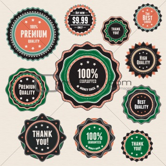 Set of vintage badges and labels. This vector image is fully editable.