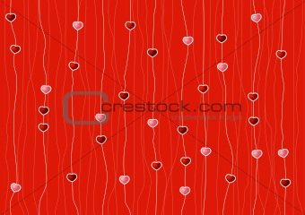 seamless pattern with the stars on a red background