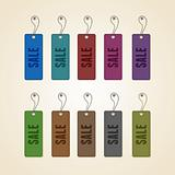 Set of colorful sale tags. This vector image is fully editable.