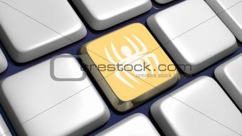 Keyboard (detail) with virus key
