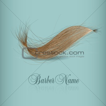 hair logo for your design. vector illustration