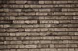 Old and dirty brick wall