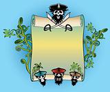 pirate roll document and ocean summer design