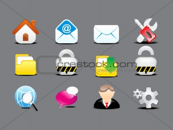 abstract detailed web icon set