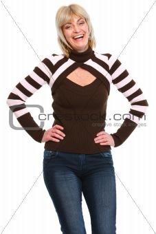 Portrait of smiling elderly female