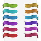 Set of 12 quality textured ribbons. This vector image is fully editable.