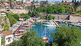 Turkey. Antalya town. View of harbor