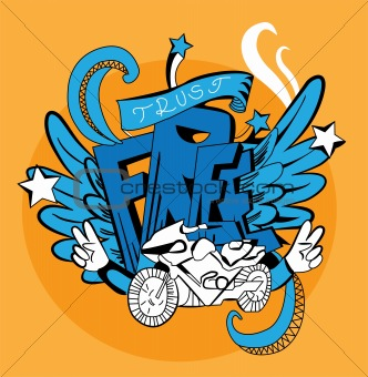 Graffiti vector abstract illustration