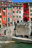 Italy. Cinque Terre. Riomaggiore village 