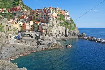 Italy. Cinque Terre. Manarola village