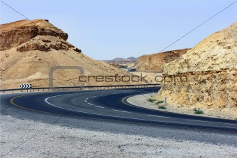 an empty mountain road