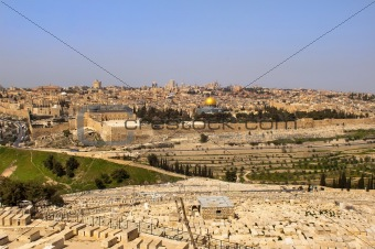 old Jewish cemetery .Jerusalem