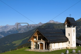 chapel in the mountains of Switzerland