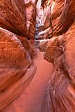 Sandstone Slot Canyon in Nevada Valley Of Fire