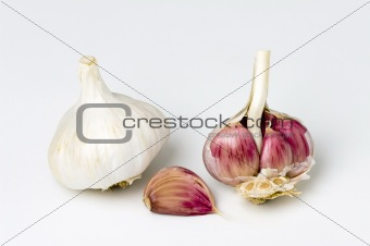garlic bulbs and clove