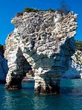 Landscapre of the coast of Gargano Apulia Italy