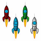 Space rocket set