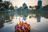 Sunset Loi Krathong Flowers City