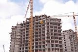 Modern building under construction