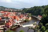 Scenic view of Czech Krumlov