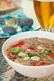 buckwheat noodle soup