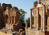 Roman Theatre In Taormina