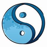 Artistic yin-yang symbol