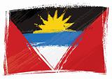 Grunge Antigua and Barbuda flag