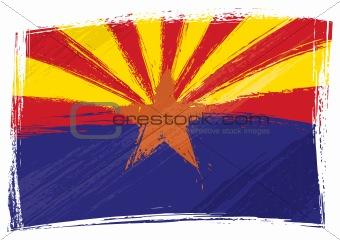 Grunge Arizona flag