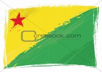 Grunge Acre flag