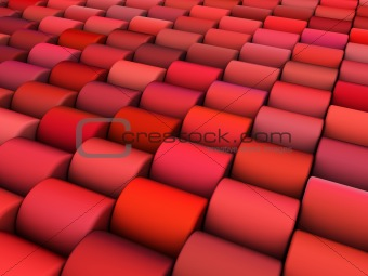 abstract 3d render multiple pink red cylinder backdrop pattern