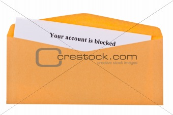 your account is blocked