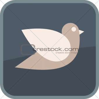 Flying bird - vector icon