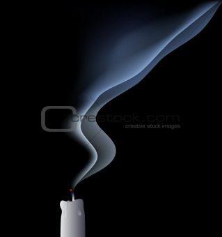 vector blown out candle