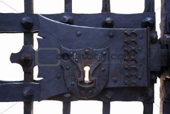 ancient forged lock