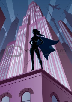 Super Heroine in City