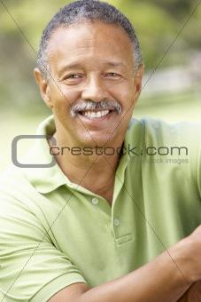 Portrait Of Senior Man In Park