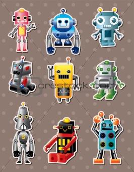 cartoon robot sticers
